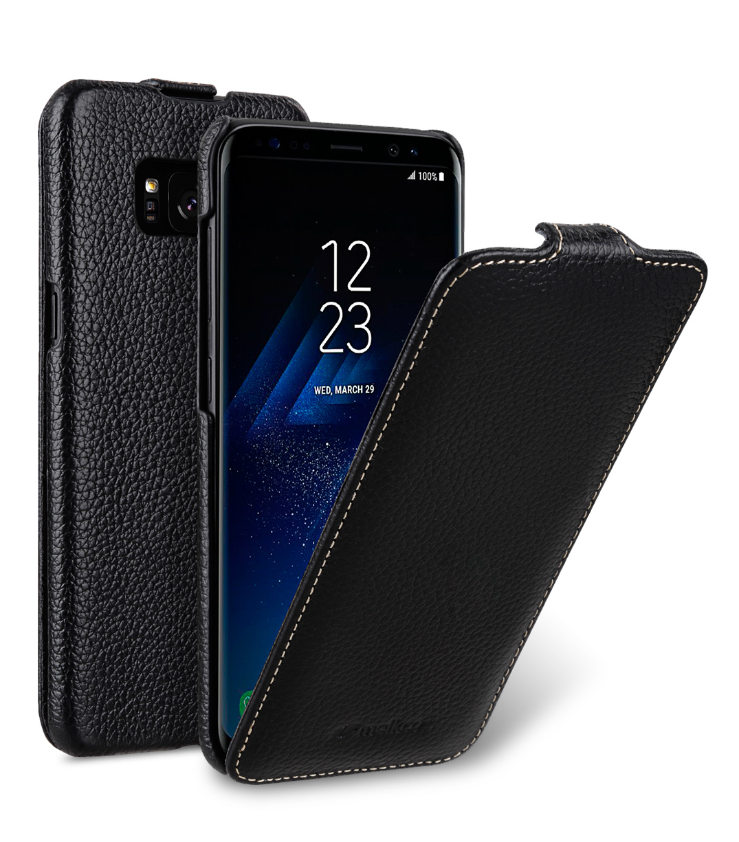 Melkco Premium Leather Case for Samsung Galaxy S8 - Jacka Type ( Black LC )
