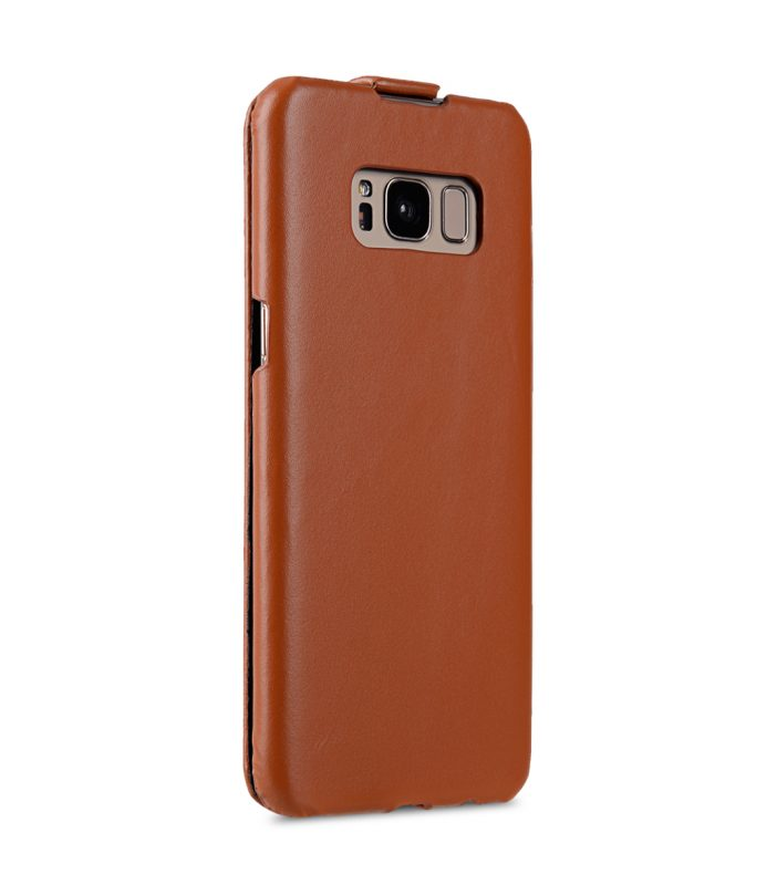 Melkco Premium Leather Case for Samsung Galaxy S8 Plus - Jacka Type ( Brown )