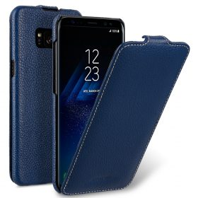 Melkco Premium Leather Case for Samsung Galaxy S8 Plus – Jacka Type ( Dark Blue LC )