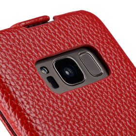 Melkco Premium Leather Case for Samsung Galaxy S8 – Jacka Type ( Red LC )