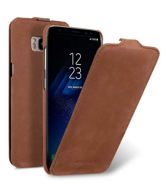 Melkco Premium Leather Case for Samsung Galaxy S8 Plus - Jacka Type ( Classic Vintage Brown )