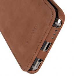 Melkco Premium Leather Case for Samsung Galaxy S8 – Jacka Type ( Classic Vintage Brown )