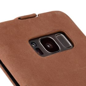 Melkco Premium Leather Case for Samsung Galaxy S8 Plus – Jacka Type ( Classic Vintage Brown )