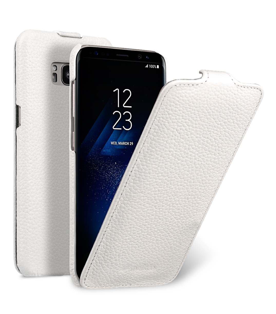Melkco Premium Leather Case for Samsung Galaxy S8 Plus - Jacka Type ( White LC )