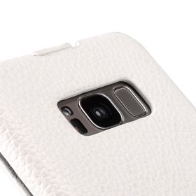Melkco Premium Leather Case for Samsung Galaxy S8 – Jacka Type ( White LC )