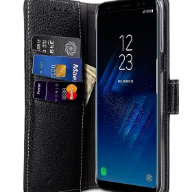Melkco Premium Leather Case for Samsung Galaxy S8 – Wallet Book Clear Type Stand ( Black LC )