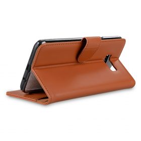 Melkco Premium Leather Case for Samsung Galaxy S8 – Wallet Book Clear Type Stand ( Brown )