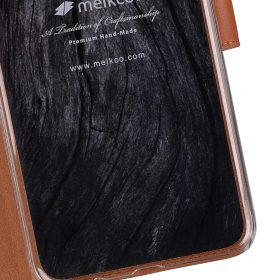 Melkco Premium Leather Case for Samsung Galaxy S8 Plus – Wallet Book Clear Type Stand ( Brown )