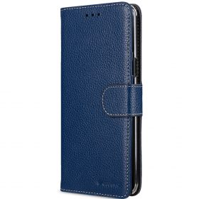 Melkco Premium Leather Case for Samsung Galaxy S8 – Wallet Book Clear Type Stand ( Dark Blue LC )