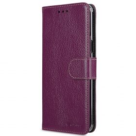 Melkco Premium Leather Case for Samsung Galaxy S8 Plus – Wallet Book Clear Type Stand ( Purple LC )