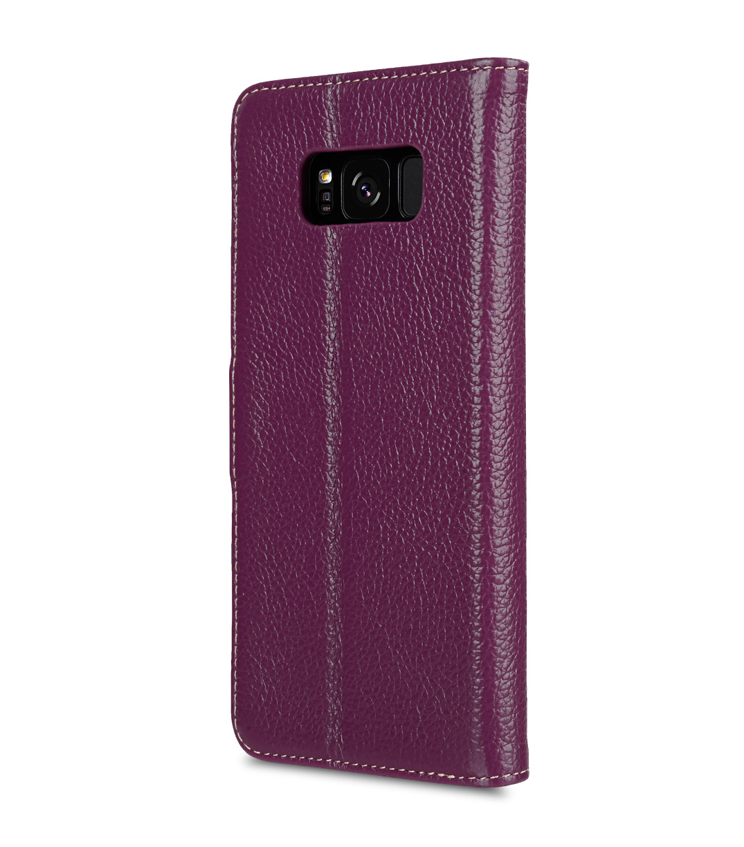 Melkco Premium Leather Case for Samsung Galaxy S8 Plus - Wallet Book Clear Type Stand ( Purple LC )