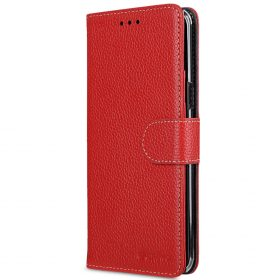 Melkco Premium Leather Case for Samsung Galaxy S8 Plus – Wallet Book Clear Type Stand ( Red LC )