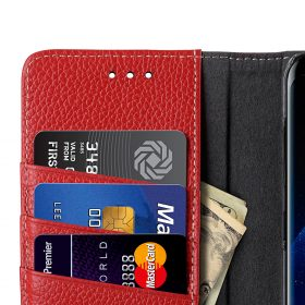 Melkco Premium Leather Case for Samsung Galaxy S8 – Wallet Book Clear Type Stand ( Red LC )