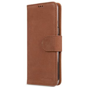Premium Leather Case for Samsung Galaxy S8 - Wallet Book Clear Type Stand (Classic Vintage Brown)