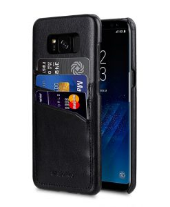 Melkco PU Leather Case for Samsung Galaxy S8 - Triple Card Slots Back Cover ( Black )