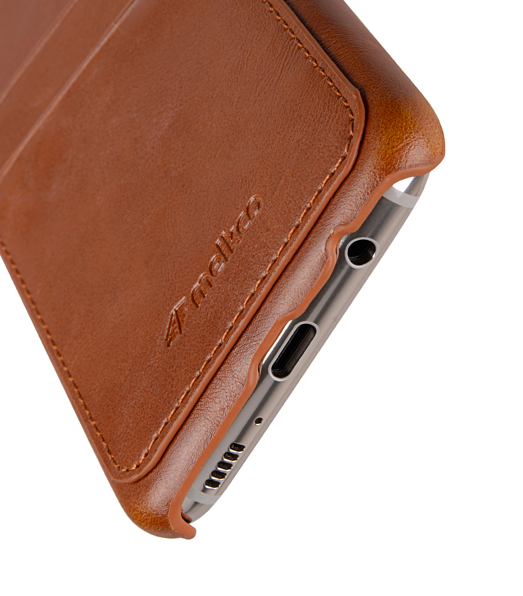Melkco PU Leather Dual Card Slots Snap Cover for Samsung Galaxy S8 Plus - ( Brown CH )