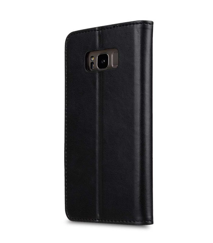Book Type Series PU Leather Case for Samsung Galaxy S8 - Livia Book Type (Black)