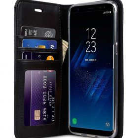 Book Type Series PU Leather Case for Samsung Galaxy S8 Plus – Livia Book Type (Black)