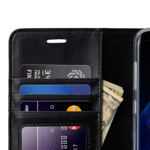 Book Type Series PU Leather Case for Samsung Galaxy S8 Plus - Livia Book Type (Black)