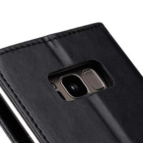 Book Type Series PU Leather Case for Samsung Galaxy S8 – Livia Book Type (Black)