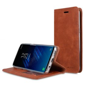 Book Type Series PU Leather Case for Samsung Galaxy S8 Plus – Livia Book Type (Brown)