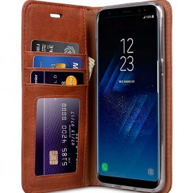 Book Type Series PU Leather Case for Samsung Galaxy S8 – Livia Book Type (Brown)