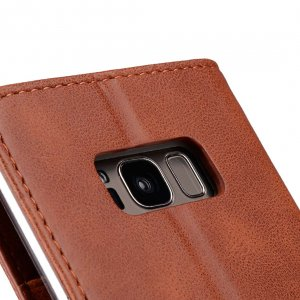 Book Type Series PU Leather Case for Samsung Galaxy S8 - Livia Book Type (Brown)