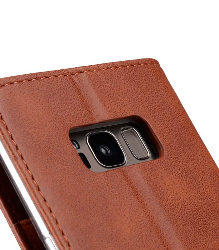 Book Type Series PU Leather Case for Samsung Galaxy S8 Plus - Livia Book Type (Brown)