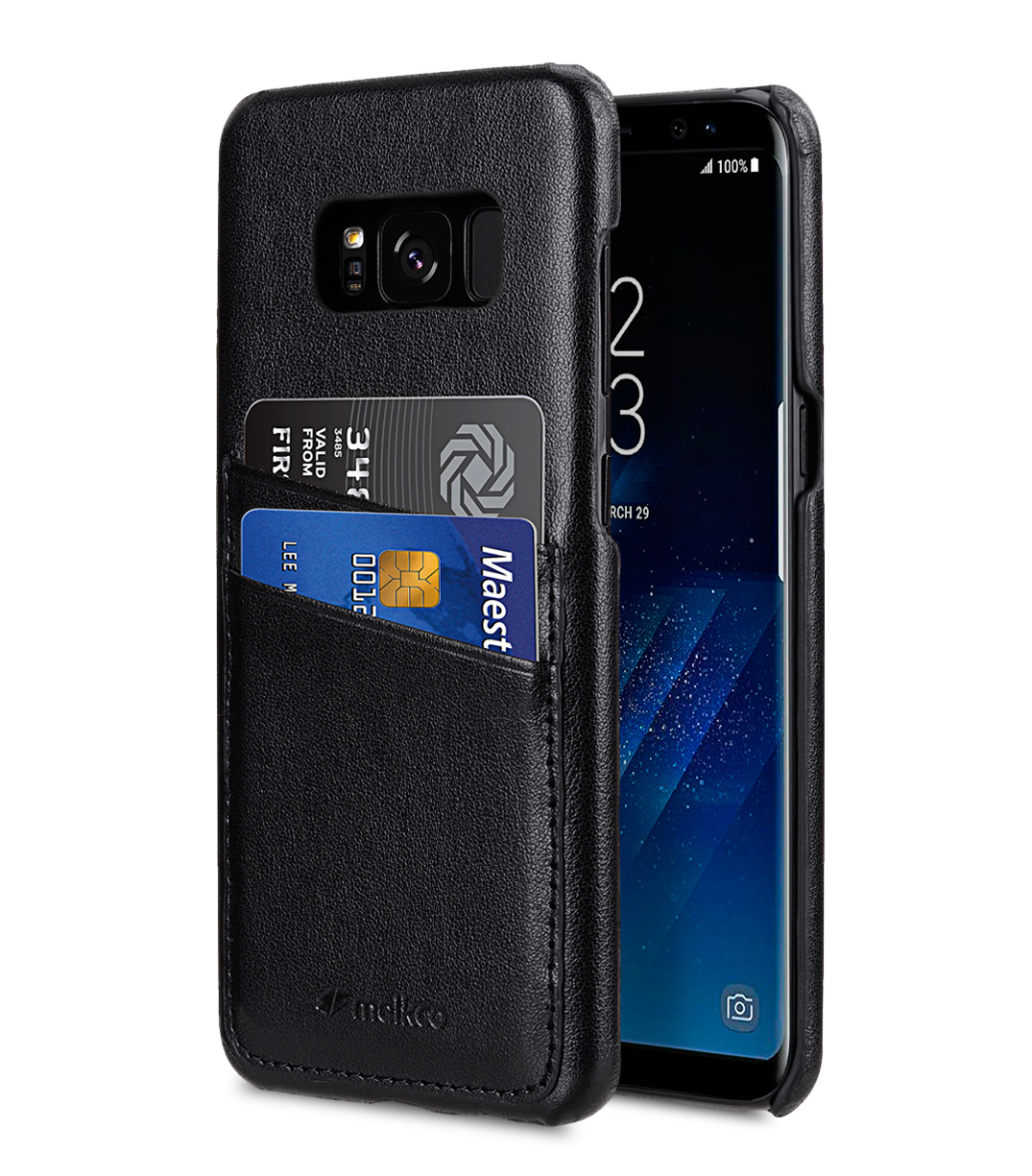 Melkco PU Leather Dual Card Slots Snap Cover for Samsung Galaxy S8 Plus - ( Black )