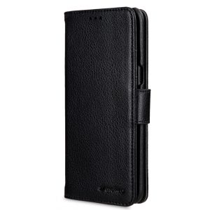 Melkco Wallet Book Series Lai Chee Pattern PU Leather Wallet Book Type Case for Samsung Galaxy S8 Plus - ( Black LC )
