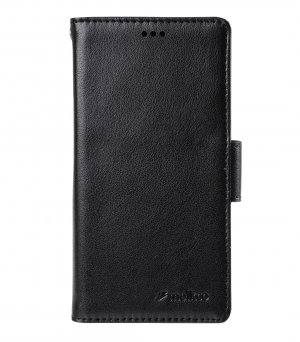 PU Wallet Book Type Case for Sony Xperia Z3 Mini - Black Split Leather