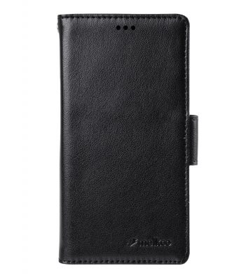 Melkco Mini PU Wallet Book Type Case for Sony Xperia Z3 Mini - Black Split Leather
