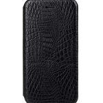 "Melkco PU case for iphone 6 (4.7"") - Slim Shell Type (Crocodile Print Pattern - Black)"