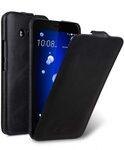 Premium Leather Case for HTC U11 - Jacka Type (Vintage Black)