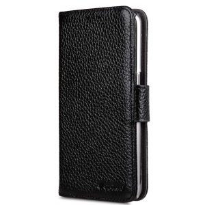Premium Leather Case for Samsung Galaxy S7 - Wallet Book ID Slot Type (Black LC)