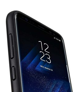 Slider Dual Rugged Case With Stand Function for Samsung Galaxy S8 - (Black)