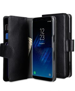 PU LeatherWallet Plus Book Type Case for Samsung Galaxy S8 - Black PU