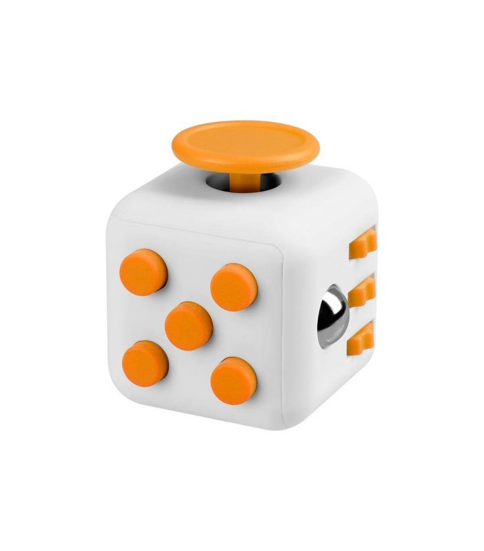i-mee Stress Relief Fidget Cube - White/Yellow
