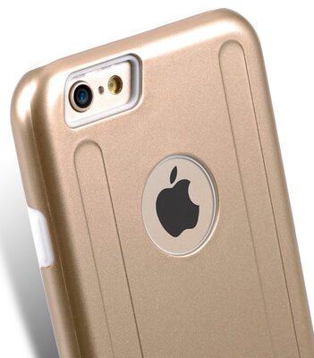 "Melkco Special Edition Metallic Kubalt for Apple iPhone 6s (4.7"") (Apple Logo visible) - Gold / White"