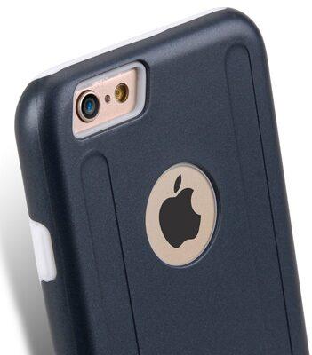 Melkco Special Edition Metallic Kubalt Series for iPhone 6s (Space Grey / White )