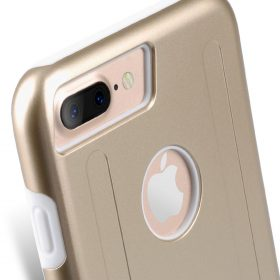 """Kubalt double Layer Case for Apple iPhone 7 / 8 Plus (5.5"""") – Gold / White"""