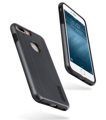 """Melkco Kubalt Double Layer Case for Apple iPhone 7 Plus (5.5"""") -Grey/Black"""