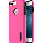 "Kubalt Double Layer Case for Apple iPhone 7 / 8 Plus (5.5"") - Pink / Black"