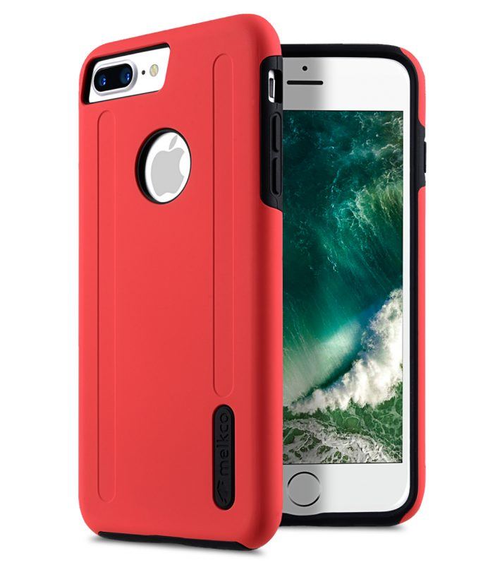 """Kubalt double layer case for iphone for Apple iphone7/ 8 Plus(5.5"""") - Red/Black"""