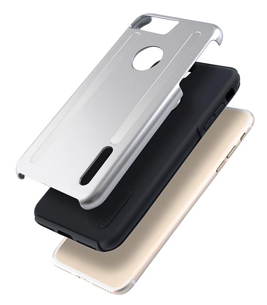 "Kubalt Double Layer Case for Apple iPhone 7 /8 Plus (5.5"") - Silver / Black"