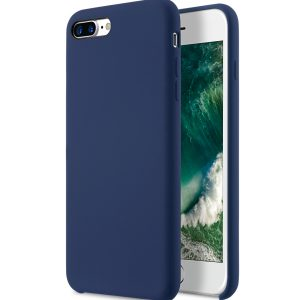 "Melkco Aqua Silicone Case for Apple iPhone 7 / 8 Plus (5.5"") - ( Dark Blue )"