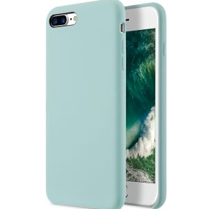 "Melkco Aqua Silicone Case for Apple iPhone 7 / 8 Plus (5.5"") - ( Light Green )"