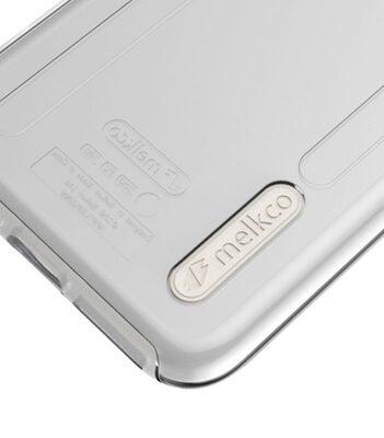 Melkco Kubalt Series Case for Apple iPhone 7 Plus - Kubalt Double Layer (Apple Logo Visible) (Milky / Transparent White )