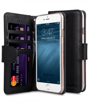 "Premium Leather Case for Apple iPhone 7 / 8 Plus (5.5"") - Wallet Book ID Slot Type"