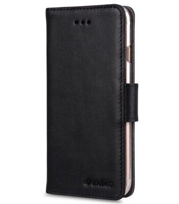 "Melkco Premium Leather Case for Apple iPhone 7 / 8 Plus (5.5"") - Wallet Book ID Slot Type (Vintage Black)"